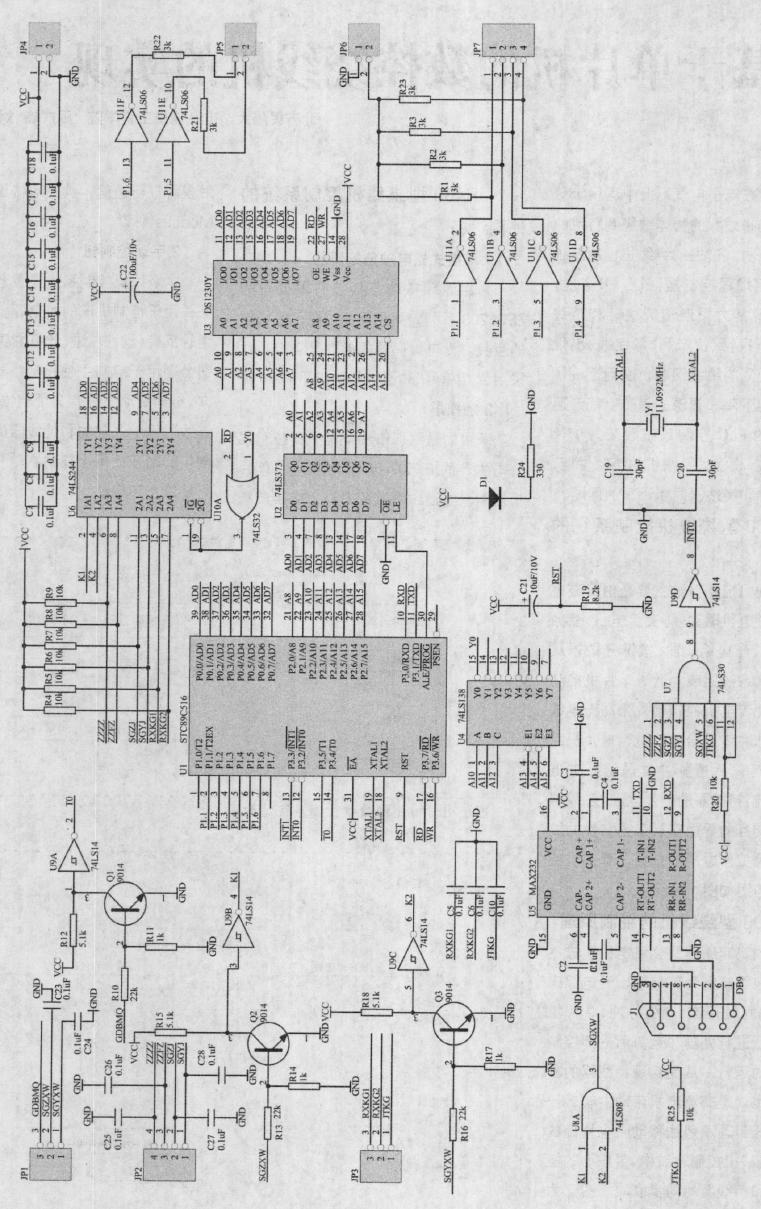 绕线机在电子电气行业中运用十分广泛,它是将线状的物体缠绕到特定的工件上的机器。过去的绕线机控制系统大多采用可编程控制器(PLC )来实现,受PLC运算能力限制造成主轴和持线器的同步不良,致使产品(漆包线)出现重叠和不规则的稀绕问题,从而造成了生产效率的下降和资源的浪费。怡斯麦通过把原来的PLC控制系统改装为单片机控制系统,改善了绕线机的绕制性能,解决了主轴和持线器同步不良的问题。  一、数控绕线机控制系统的硬件结构 绕线机控制系统主要是由步进电机及其步进电机驱动器、交流电机、变频器、触摸屏、光电编码器、按